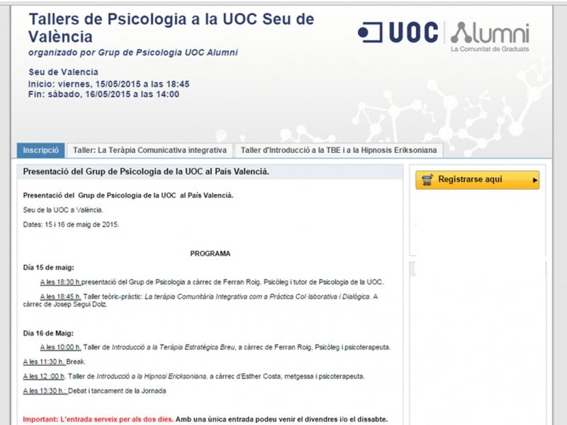 Tallers de Psicologia a la UOC