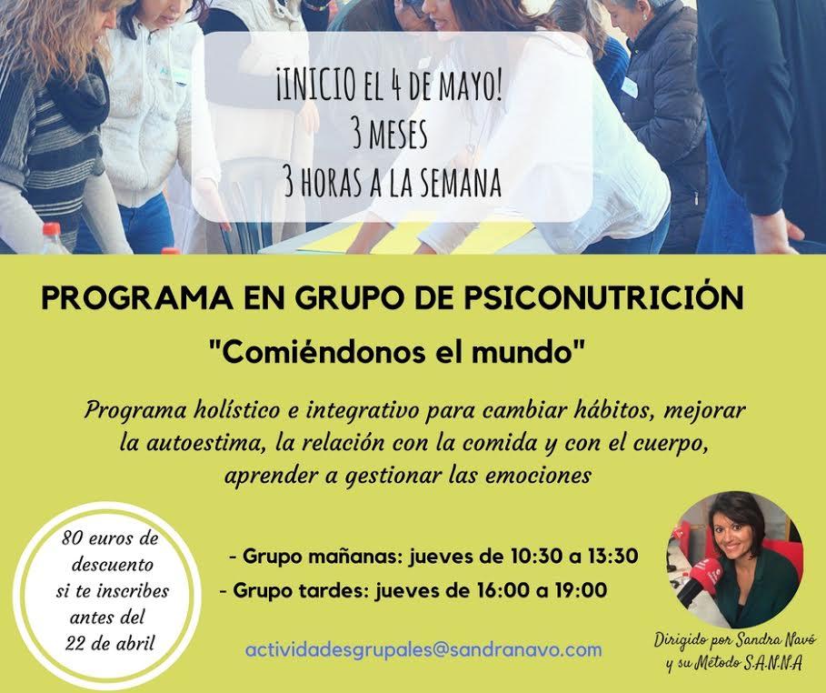 Programa en Grupo de Psiconutrición