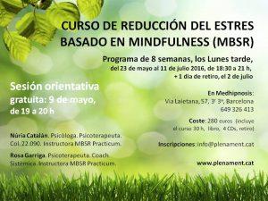 PROGRAMA DE REDUCCIÓN DEL ESTRÉS BASADO EN MINDFULNESS MBSR (Mindfulness Based Stress Reduction)